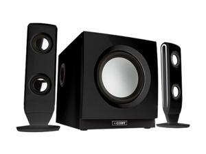 COBY CS-MP77 2.1 Black 75 Watts High-Performance Speaker System for Digital Media Players