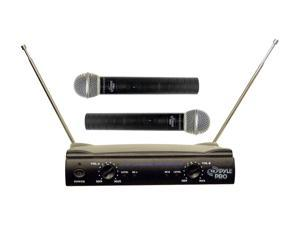 Pyle PDWM2500 Dual VHF Wireless Microphone System