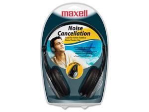 Maxell 190402 Silver Plated 3.5 mm Stereo Connector Lightweight Noise Cancellation Headphone