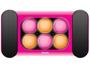 i.Sound ISOUND-5248 2.0 Speaker System - 3 W RMS - Pink