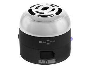 Go Rock Black Mini Portable Speaker w/ Retractable Cables (TRMS02MC-BK)