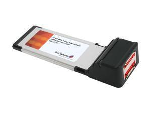 StarTech  ECESAT32  2 Port SATA 6 Gbps ExpressCard eSATA Controller Card - Retail