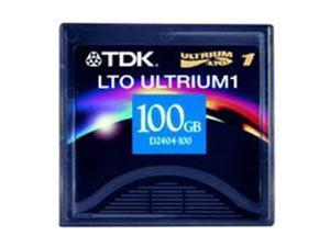 TDK D2404-100AX 100/200GB LTO Ultrium 1 Tape Media 1 Pack