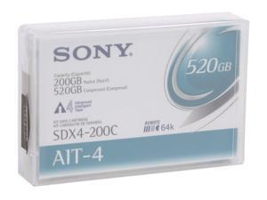 SONY SDX4-200C 200/520GB AIT4 Tape Media 1 Pack