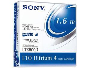 "SONY LTX800G 1/2"" LTO Ultrium 4 Cartridge, 2600 ft, 800GB Native / 1.6TB Compressed Capacity"