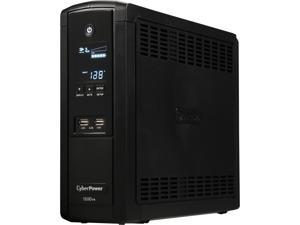 CyberPower Intelligent LCD Series BRG1500AVRLCD 1500 VA 900 Watts 12 Outlets UPS with USB Charging Ports