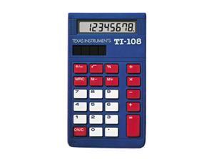 Texas Instruments TI-108 (108/BK/D) School Calculator