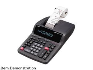 Casio DR210TM DR-210TM Two-Color Desktop Calculator, 12-Digit Digitron, Black/Red