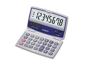 Casio Big Display Solar Calculator with Folding Hard Case