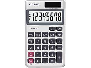 Casio Wallet Solar Calculator with 8-Digit Display