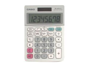 CASIO  MS-80ECO-S-IH  ECO Desktop Calculator With 8-Digit Display