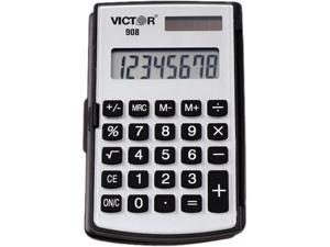 Victor 908 908 Portable Pocket/Handheld Calculator, 8-Digit LCD