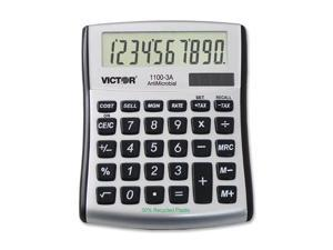 1100-3A Antimicrobial Compact Desktop Calculator, 8-Digit LCD