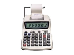 1208-2 Two-Color Compact Printing Calculator, 12-Digit LCD, Black/Red