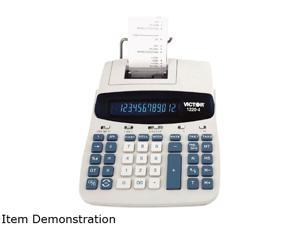 Victor 1220-4 1220-4 Two-Color Tax Key Printing Calculator, 12-Digit Fluorescent, Black/Red