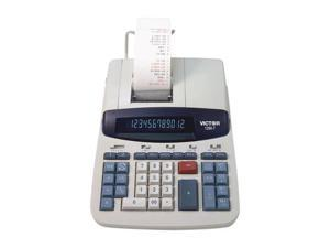 1280-7 Two-Color Printing Calculator w/USB, 12-Digit Fluorescent, Black/Red
