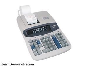 Victor 1560-6 1560-6 Two-Color Ribbon Printing Calculator, 12-Digit Fluorescent, Black/Red