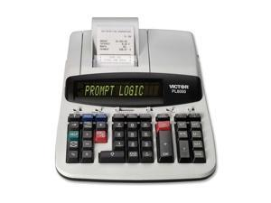 PL8000 1-Color Prompt Logic Printing Calculator, 14-Digit Dot Matrix, Black