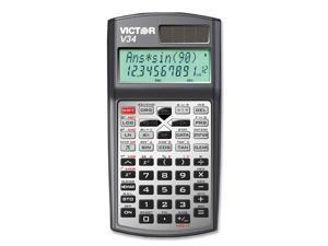 Victor V34 V34 Advanced Scientific Calculator, Black/Gray