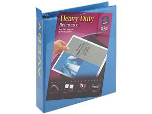 "Avery 05401 Nonstick Heavy-Duty Round Ring View Binder, 1-1/2"" Capacity, Light Blue"
