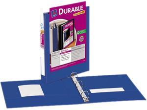 "Avery 17014 Durable Vinyl EZ-Turn Ring View Binder, 11 x 8-1/2, 1"" Capacity, Blue"