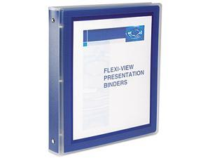 "Avery 17685 Flexi-View Round-Ring Presentation View Binder, 1"" Capacity, Navy"