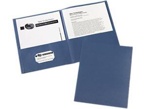 Avery 47985 Two-Pocket Portfolio, Embossed Paper, 30-Sheet Capacity, Dark Blue, 25/Box