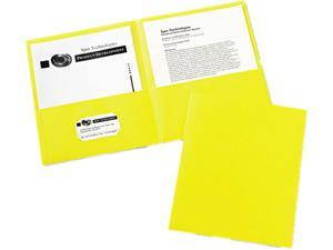 Avery 47992 Two-Pocket Embossed Paper Portfolio, 30-Sheet Capacity, Yellow, 25/Box