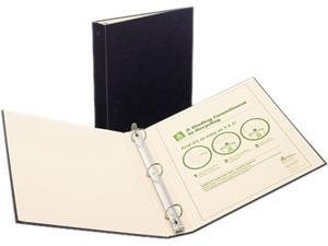 "Avery 50012 Recyclable Ring Binder With EZ-Turn Rings, 3"" Capacity, Black"