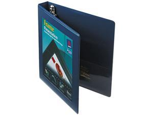 "Avery 68055 Framed View Binder With One Touch Locking EZD Rings, 1"" Capacity, Navy Blue"