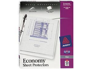 Avery 74090 Top-Load Poly Sheet Protectors, Economy Gauge, Letter, Clear, 50/Box