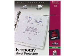 Avery 74101 Top-Load Poly Sheet Protectors, Economy Gauge, Letter, Semi-Clear, 100/Box
