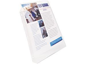 Top-Load Poly Sheet Protector, Super Heavy Gauge, Ltr, Diamond Clear, 50/Box