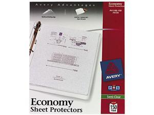 Avery 74170 Top-Load Poly Sheet Protectors, Economy Gauge, Letter, Semi-Clear, 150/Box