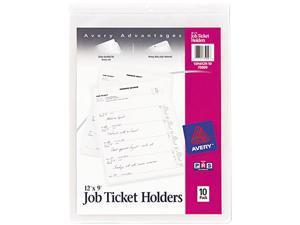 Avery 75009 Job Ticket Holders, Heavy Gauge Vinyl, 9 x 12, 10/Pack