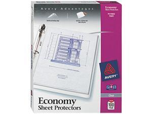 Avery 75091 Top-Load Poly Three-Hole Sheet Protectors, Economy Gauge, Letter, 100/Box