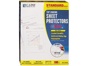 C-line 62048 Top-Load Polypropylene Sheet Protectors, Standard, Ltr, Non-Glare,100/Box