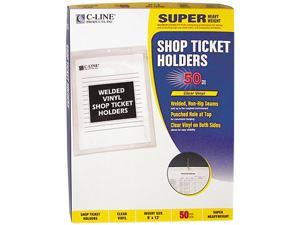 C-line 80912 Vinyl Shop Seal Ticket Holders, Top-Load, 9 x 12, Clear, 50/Box