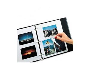 C-line 85050 Redi-Mount Photo Sheets, 3-Hole Punched, 11 x 9, 50 Sheets/Box