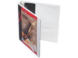 "Cardinal 10300 Recycled ClearVue EasyOpen Vinyl D-Ring Presentation Binder, 1"" Capacity, White"