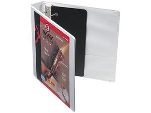 """Cardinal 10310 Recycled ClearVue EasyOpen D-Ring Presentation Binder, 1-1/2"""" Capacity, White"""