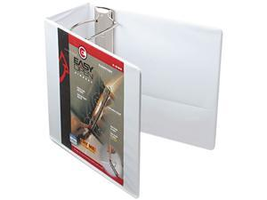 "Cardinal 10350 Recycled ClearVue EasyOpen Vinyl D-Ring Presentation Binder, 5"" Capacity, White"