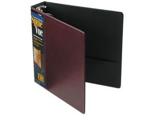 "Cardinal                                 SpineVue Round Ring View Binder, 2"" Capacity, Maroon"