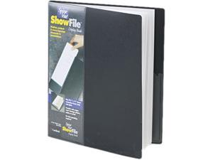 Cardinal 51232 SpineVue ShowFile Display Book w/Wrap Pocket, 24 Letter-Size Sleeves, Black