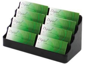 Deflect-o 70804 Desktop Business Card Holder, Capacity 400 Cards, Black