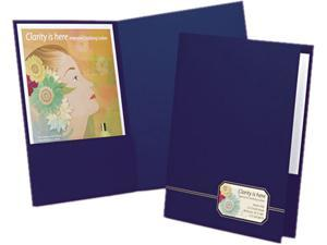 Oxford 04162 Monogram Series Business Portfolio, Cover Stock, Blue/Gold, 4/Pack
