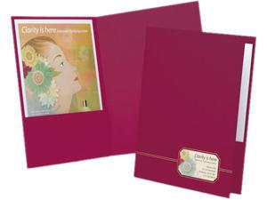 Oxford 04165 Monogram Series Business Portfolio, Cover Stock, Burgundy/Gold, 4/Pack