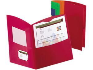 Oxford 50625-00 Contour Two-Pocket Folder, 100-Sheet Capacity, Assorted Colors