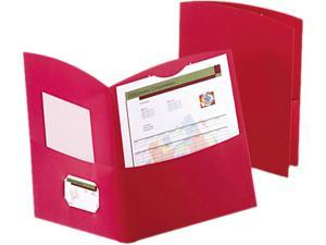 Oxford 50625-58 Contour Two-Pocket Folder, Paper, 100-Sheet Capacity, Red