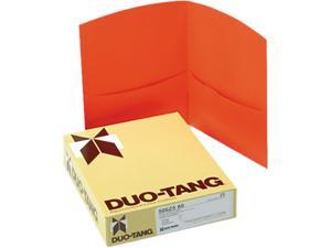 Oxford 50625-80 Contour Two-Pocket Paper Folder, 100-Sheet Capacity, Orange